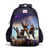 Wholesale girl notebooks - Fortnite Character 3D Print Boy Girl Schoolbag Men Travel Backpack Cartoon Notebook Backpack Teenage 17 styles