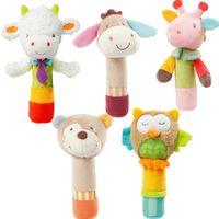 jouet bâton marionnette achat en gros de-JJOVCE cloche main apaiser attraper la main animal BB bâton bébé marionnette à la main poupée jouet nouveau-né jouet