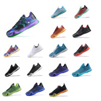 5950ed04253 Cheap Mens kobe 10 basketball shoes USA Independence Days White Black  Easter Blue Green Red KB10 X low cuts sneakers boots for sale with box