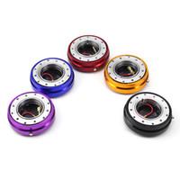 honda jdm räder großhandel-5 Farben Universal Aluminium Thin Version 6 Loch Lenkrad Schnellverschluss Hub Adapter Verrasten Boss Kit
