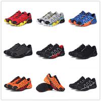 Wholesale Black Light Golf - 9 Color 2018 Salomon Speed Cross 4 outdoor Running Shoes Light Sneaker for Outdoor Walking Jogging Men Shoes
