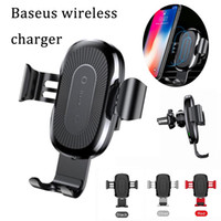 Wholesale Gravity Designs - Fashion design Baseup wireless charger 5v2a 9v1.67A 10W travel power pad fast charger gravity lock charger sit for iphone x samsung s9