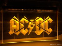Wholesale neon sign bands - LF079y- ACDC ACDC Band Music Bar Club LED Neon Light Sign