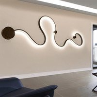 Wholesale black white living room decor resale online - Creative Curve Light Snake LED Lamp Nordic Led Belt Wall Sconce Surface Mounted Modern Led Ceiling Lights For Living Room Fixture Home Decor