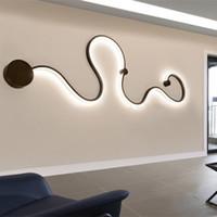 tavan lambaları monte edin toptan satış-Yaratıcı Eğri Işık Yılan LED Lamba Nordic Led Kemer Duvar Aplik Sıva Üstü Modern Led Tavan Işıkları Oturma Odası Fikstür Ev Dekor Için