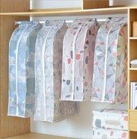 tuchkleidung aufbewahrungsbeutel großhandel-Staubdicht Tuch Abdeckung Taschen Hanging Organizer Lagerung Wasserdicht Anzug Mantel Staubschutz Schutz Kleiderschrank Aufbewahrungstasche für Kleidung