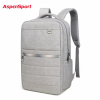 Wholesale 17 Laptop Backpack - AspenSport 2017 Light Business Men's Backpacks Laptop Backpack For 15.6 Inch 17 Inch Women Notebook Computer Bag Teen School Bags
