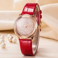 vestidos ocasionales de oro blanco al por mayor-2019 Popular Casual Cuadrado Esfera Reloj de mujer Reloj Negro / blanco / Rojo / Oro rosa Diamante Reloj de pulsera de cuero Relojes de dama famosa marca Vestido watche
