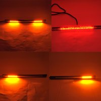 Wholesale Led Strips For Motorcycles - China indicator led Suppliers 8inch Professional Car 32 LED Flexible Strip Tail Lights Turn Signal Brake Indicator for Motorcycle