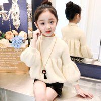 Wholesale teenage clothes styles for sale - Group buy Baby Toddler Teenage Girls Sweaters Tops Spring Autumn Winter Long Puff Sleeve Knit Kids Sweater For Girl Children s Clothes
