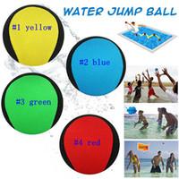 Wholesale ocean games - Water Jumpping bal Premium Water Bouncing Ball TPR Colour Pool Ocean Beach Game in 4 colors LJJM14