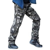 ingrosso pantaloni dell'esercito invernale-Pantaloni da uomo autunno-inverno Pantaloni da tiro tattici militari Camo Army