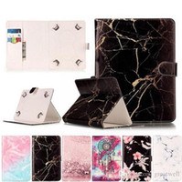 Wholesale amazon tablet cases resale online - Universal Inch inhc inch Tablet Cover Marble PU Leather Magnetic Buckle Flip Case For Huawei Lenovo Samsung Asus Kindle Tablet