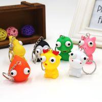 Wholesale Big Plastic Dolls - Cute Burst Eye Doll Key Chain Decompression Toys Funny Animal Shape Squeeze Toy Hot Sale 1 25tx C