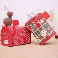 Wholesale mailing christmas gifts resale online - Christmas Mailbox Box Bonbonniere Iron Candy Box Gift Boxes Santa Mail Santa Kids Box Merry Christmas Ethereal Giff