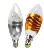 e14 kerze led birne 9w großhandel-LED-Kerzenlicht E14 9W 12W nicht dimmbar 110V 220V LED-Lampe Lampe kaltweiß / warmweißen Strahler LED LIGHTIG Silber / Golden