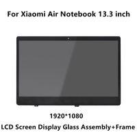 lcd матричный дюйм оптовых-13.3 inch For Xiaomi Mi Notebook Air IPS LCD LED Screen Display Matrix Glass Assembly + Frame LQ133M1JW15 N133HCE-GP1 LTN133HL09