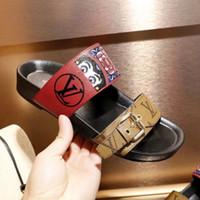цены на печать в формате pvc оптовых-Дешевые цены фирменные сандалии для женщин 2019 новый стиль женские кожаные сандалии женские шлепанцы слайд сандалии мода печати сандалии размер 35-41