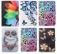 Wholesale ipad air2 smart case resale online - Butterfly Owl Flower PU Leather Stand Wallet Flip Card Slots Case for iPad th Gen New Ipad Air Air2 mini Samsung