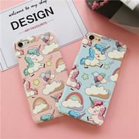 животные iphone 5s чехлы оптовых-YunRT Cute Fashion Animal Hard PC Case для iPhone 5 5s SE Back Phone Cover для iPhone 6 6s 7 Plus Pink Scrub Ультра тонкие чехлы