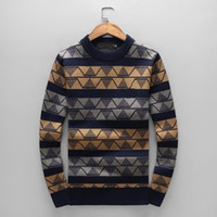 Wholesale mens wool jerseys - Fashion Embroidery logo wool sweaters Luxuy Brand mens Knitwear Jumpers cashmere pullover European Man Winter warm thick jerseys ZRL02