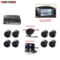 Wholesale car video camera parking system - Vehicle Car Video DVD Parking Kit 8 Parking Sensor Car Vehicle Reverse Backup Radar System Support Front and Rear View Camera