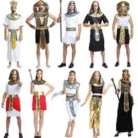 Wholesale cosplay cleopatra for sale - Halloween Costumes Boy Girl Ancient Egypt Egyptian Pharaoh Cleopatra Prince Princess Costume Kids Cosplay Clothing Party Supplies GGA1260