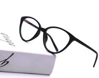 gafas de animales al por mayor-HUITUO Moda Cat Eye Gafas Redondas Gafas de Lectura Gafas de Montura Transparente para Mujeres Clear Computer Eyewear