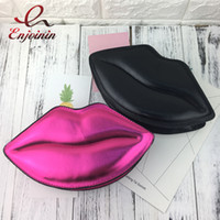 Wholesale lips purse - Sexy lips style fashion ladies day clutches chain shoulder bag handbag women's crossbody mini messenger bag purse 4