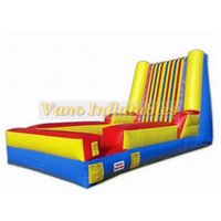 Wholesale play free kid games resale online - 4x3x3m Human Sticky Wall Inflatable for Kids and Adults Jumper Sport Games Commercial PVC with Blower