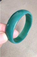 natürliches jade armband armband großhandel-Natürlich-Schön-Achat-Jade-Armreif-Armband-Für-Baby-Kind-Grün-48mm Natürlich-Schön-Achat-Jade-Armreif-Armband-Für-Baby-Kind