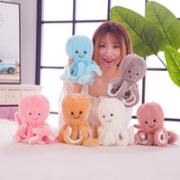 Wholesale sea stuffed animal resale online - 22cm Cute Octopus Plush Toy Octopus Whale Dolls Stuffed Toys Plush Sea Animal Toys For Children Xmas Gift