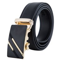 Wholesale men belt genuine leather - 2018 L Buckle Design Belts for Men Women Fashion Belts Genuine Leather Luxury Belt Brand Waist Belt