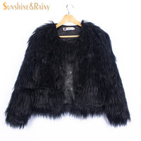Wholesale stylish coats for winter online - Ins Stylish Fur Jackets For Girls Autumn Kids Jackets And Coats Waterfall Baby Girl Faux Fur Coat Children Outerwear Y Y1892112
