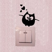 etiqueta do vinil do ramo do pássaro venda por atacado-Adesivos de parede Coruja Pássaros Ramo Coração Para Crianças Quarto de Bebê Vinyl Wall Decal 3SS0154