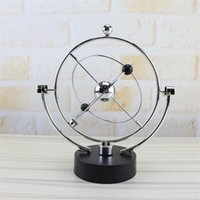 Wholesale business model online - Rotate Perpetual Motion Instrument Model Novelty Kinetic Orbital Metal Arts And Crafts Creative Swing Globe Pink Blue hz Ww
