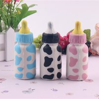 Wholesale Baby Bottle Charms - 10cm Jumbo Squishy Slow Rising Baby Feeding Milk Bottle Cute Fun Kawaii Kids Toys Present Phone Key Straps Charms Free Shipping