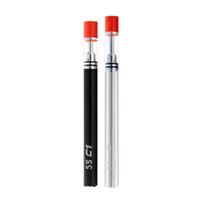 cigarrillo c2 al por mayor-desechable Vape Pen Wax Vaporizador Starter Kit 320 mah e Cigarrillos Kits de cerámica Bobina cartucho de vidrio 5S C1 C2 .3ml .5ml Bolígrafos de vapor