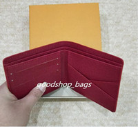 Wholesale Pu Leather Clutch Purse - high quality Red Wallets Purse Clutch Bags Classic Brand Short Wallet Gifts For Men Women Designer Coin Purses With Box