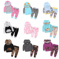 Wholesale Wholesale Clothing Hoodies - Baby Clothes Kids Outfits Baby Clothes Hoodies Pants Ins Long Sleeve Kids Deer Clothing set Tops Pants 2Pcs Outfits Set KKA3660