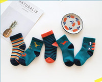 Wholesale cotton candy baby sock online - 5pair Cute kids socks set new baby boy girl socks children cotton stocks good quality Cotton Soft Socks Baby Candy Color