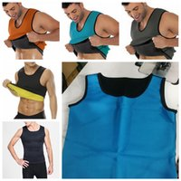 Wholesale body shaper t shirt resale online - 6styles Body Shaper Men Slimming Vest sport Neoprene Abdomen Fat Burning Shaper Vest Waist Sweat Corset Weight Loss Sweat T Shirt FFA868