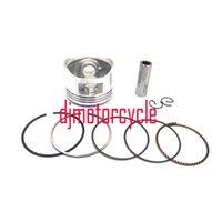 pièces de moteur de vtt achat en gros de-Pour CG 125cc Dirt Bike Go Kart Moto Moteur Pièces Piston Assemblée Anneau Kit Ensemble