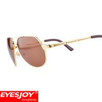 Wholesale Round Screws - Men Brand Pilot Locomotive Sunglasses Gold screw style designer Sunglasses for Men women With Original Box Luxury Designer SunGlasses
