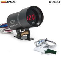 jauge noire achat en gros de-EPMAN-37mm Fumée Température de gaz d'échappement EGT Jauge Rouge Décalage Numérique Style Jauge Compteur Pod Rouge LED Noir EP37BKEXT