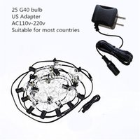 Wholesale patio decor - G40 Christmas Lights Globe String Light 25LED Bulb Outdoor Decorative Copper Wire String Lights for Garden, Patios, Home Decor, Wedding