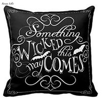 Wholesale green chalkboards resale online - ISHOWTIENDA CM Something Wicked Chalkboard Halloween Throw Pillow Cover Fashion Home Decorative Pillowcase Cotton Polyester Pillow Case