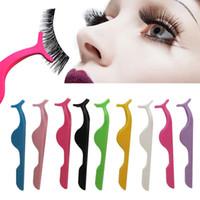 Wholesale arc tools - Coloful False eyelash clip Arcing False eyelash tool False Eyelash Fake Eye Lash Applicator Clip Makeup Tweezer Makeup Tool FFA249