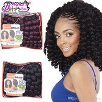 Wholesale Purple Wand - Hair peice big curly 80g Pack Wand Curl Janet Collection Crochet braids hair Extensions 2X Bounce Twist Curly brads Wand Curly Crochet hair