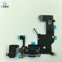 cabo usb para iphone 5g venda por atacado-Original novo porto de carregamento doca conector usb cabo flex para iphone 5 5g fone de ouvido de áudio jack flex ribbon